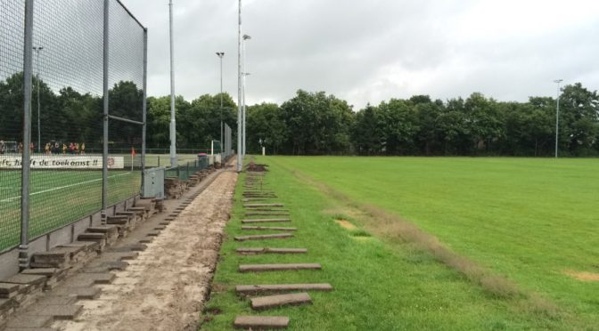 De eerste ontwikkelingen voor het lacrosseveld zijn begonnen!